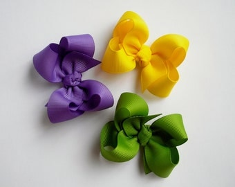 Pick Your Own Colors - Set of 3 Twisted Boutique Bows - 33 Color Choices - Boutique Bows - Hair Bows - Twisted Boutique Hair Bows - Hairbows