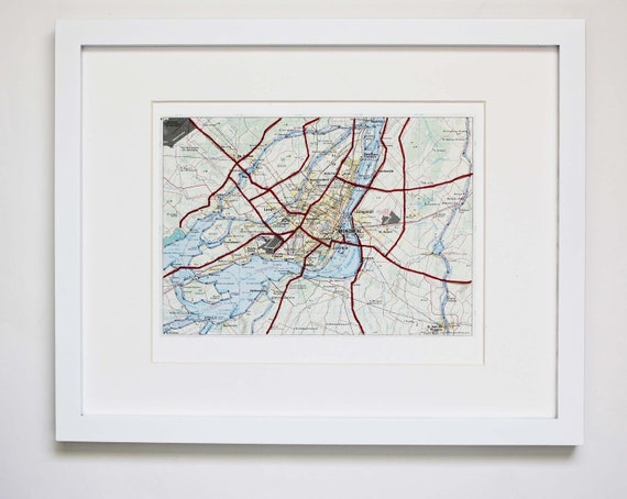 Montreal Map Embroidered