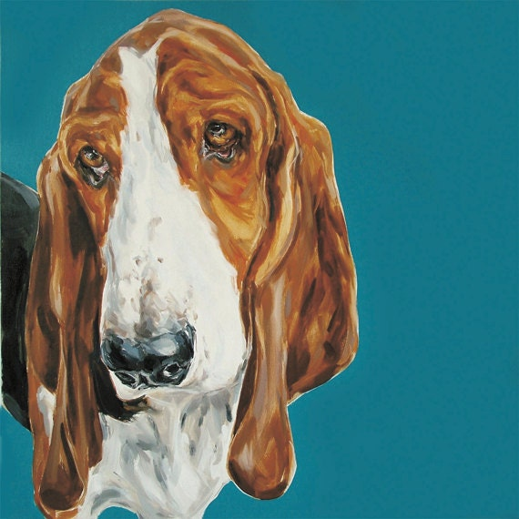 Basset Hound Dog -  Fine art Print No.12 of Ltd Ed.