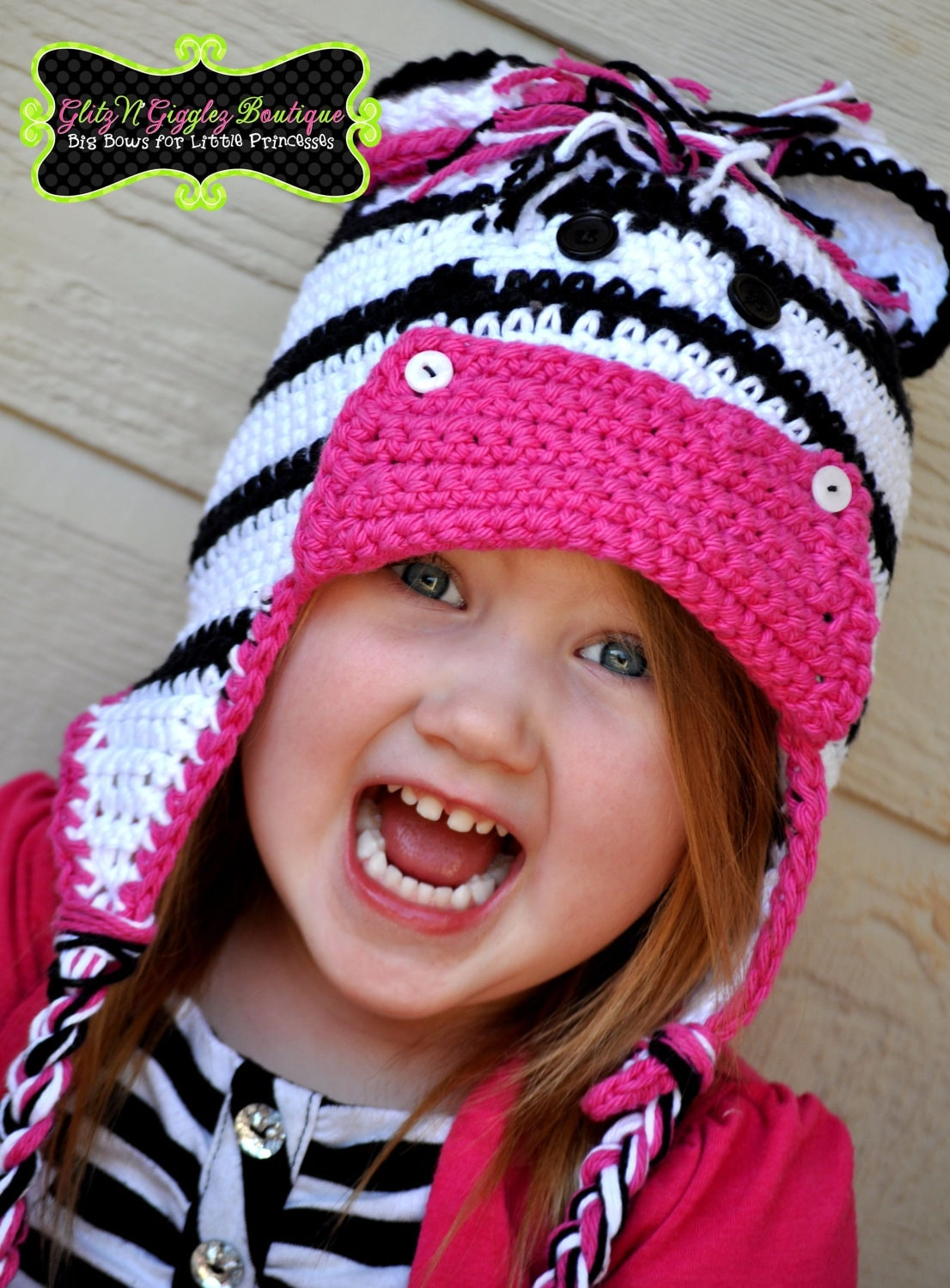 Crochet Zebra Hat : Cozy and Cute Crochet Zebra Hat For all Ages by GlitZNGiggleZ