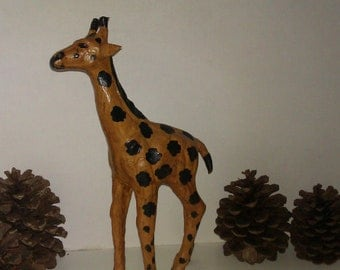 SPECIAL  SALE Vintage Leather Giraffe 1960 Italy Collectible 20 percent OFF 4 Return Buyer