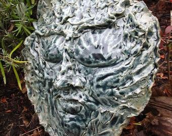 Earth Sea and Sky Poseidon Neptune God of the Sea Indoor Outdoor Garden Sculpture Mask