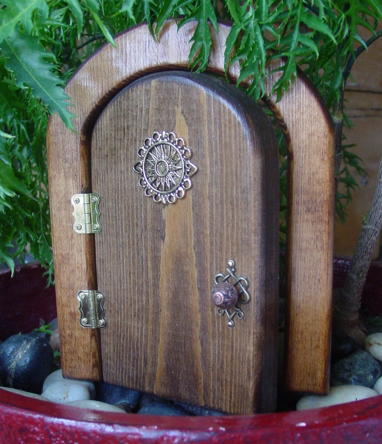 Opening celestial fairy door by faekeepers on etsy for Fairy house doors