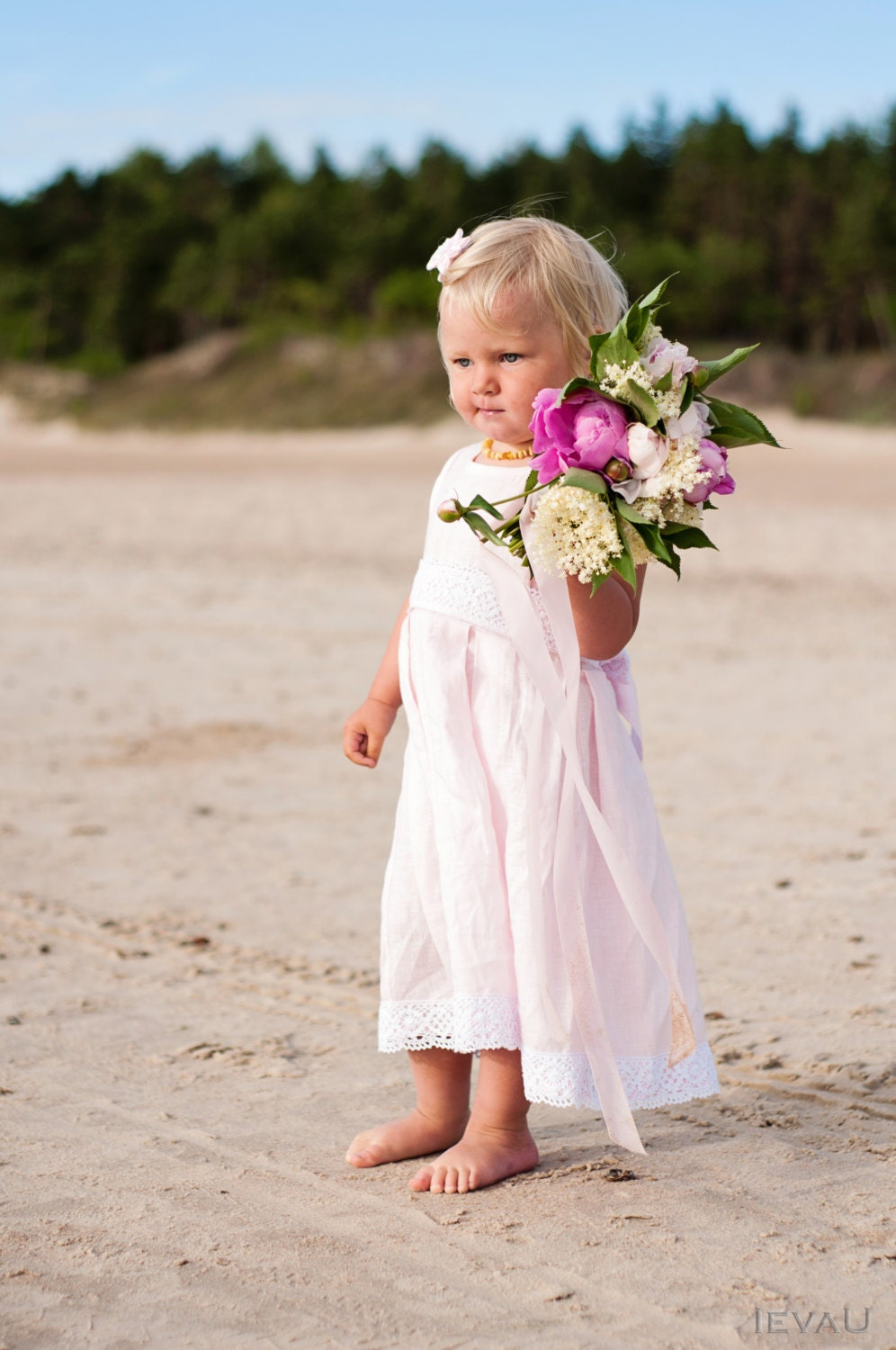 beach wedding flower girl dress pink flower dress weddings flower by 1585