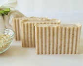 OAT SCRUB SOAP - large 5.5 oz, Oatmeal, Milk & Honey scent, shea butter, mango butter, cocoa butter, vegan, natural, handmade, gift, bath