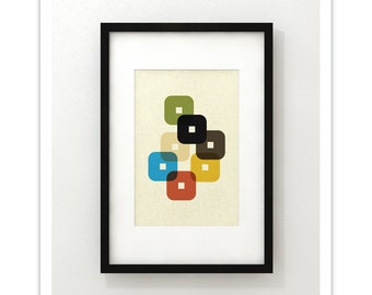 STAND - Giclee Print - Mid Century Modern Danish Modern Minimalist Modernist Eames Abstract