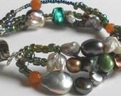 Pearl Bracelet, Multi-Strand Pearl Bracelet