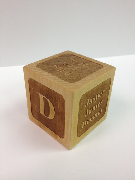 Personalized Wooden Baby Block