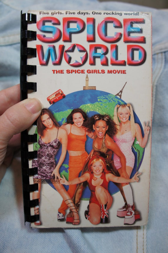 90s SPICE GIRLS spice world recycled vhs notebook