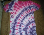 medium pink, purple & white tie dye