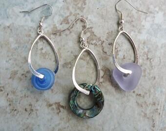 SALE Pair of Oval Beadable Earrings fits European Beads