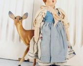 Vintage Felt Doll Italy Florence Style