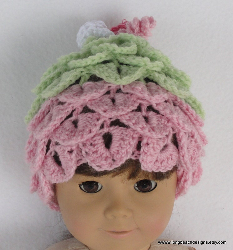 Air Freshener Crochet Dolls Pattern : Crochet doll hat pattern Doll Leaf Beanie for Bitty Baby