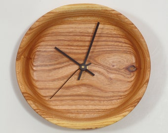 Wood Wall Clock, Chinaberry Wall Clock, Must-See Grain Pattern