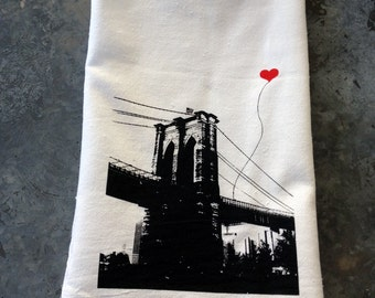 Brooklyn Bridge New York City Tea Towel