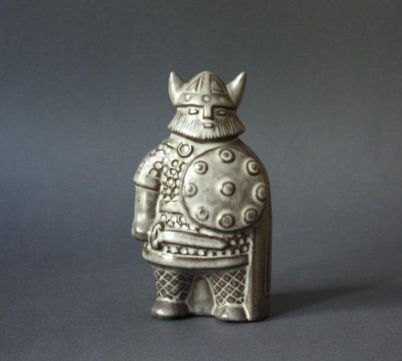 Scandinavian Stoneware Viking Figurine by Taisto Kaasinen for Uppsala Ekeby