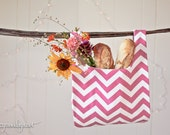 Hot Pink Chevron Market Bag
