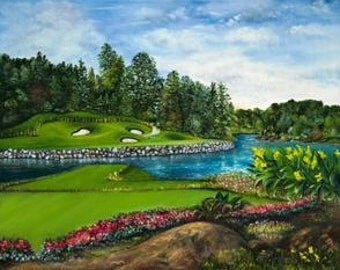 13th at Northstone Limited Edition Giclee Commemorative Golf Painting