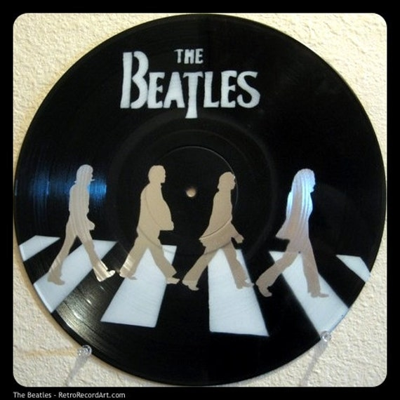 The Beatles Stencil On Vinyl Record