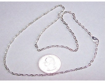 1pc 18in Silver Cable Chain Necklace chain perfume locket chain  jewelry findings steampunk chain from cameo jewelry supply 501x