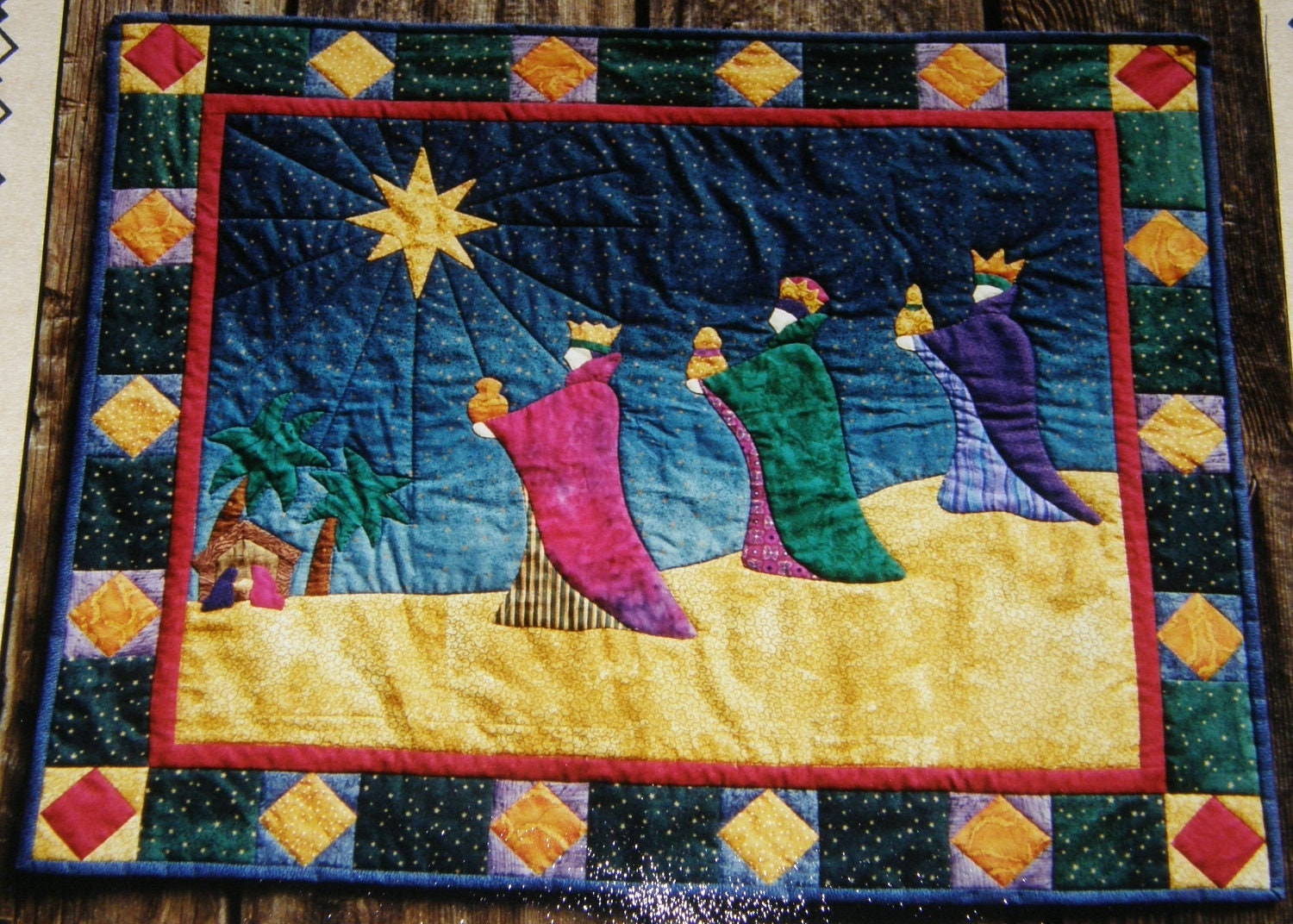 We Three Kings Wall Quilt Applique Pattern 31 X 38
