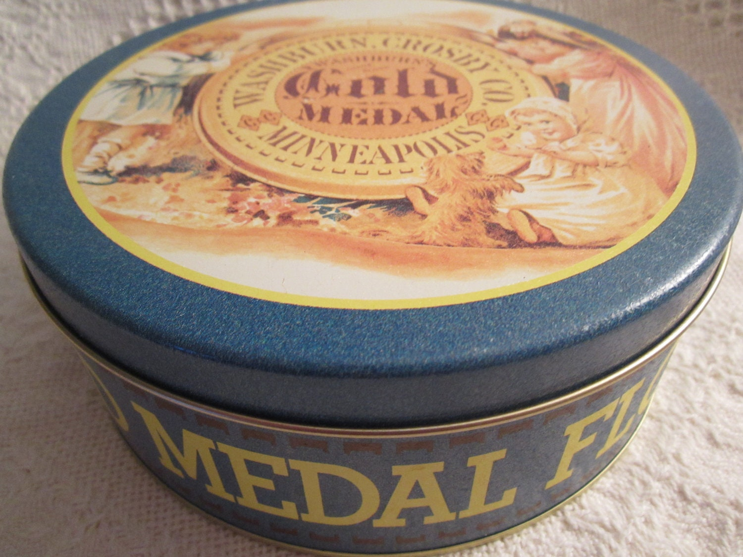 Vintage GOLD MEDAL Flour Tin Container by Washburn Crosby Co.