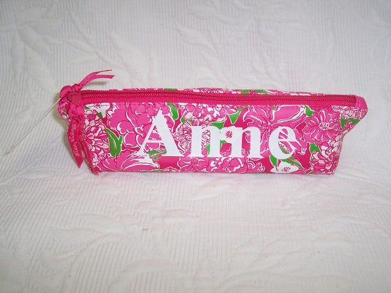 Personalized Lilly Pulitzer Pencil Pouch MAY FLOWERS