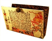 Book Clutch, Chaucer, Old English, Recycled Book Purse, fall colors
