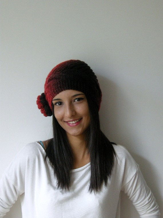 With a Gift.There is a gift for who buy this lovely hat.red,black,beanie,knit,valentine