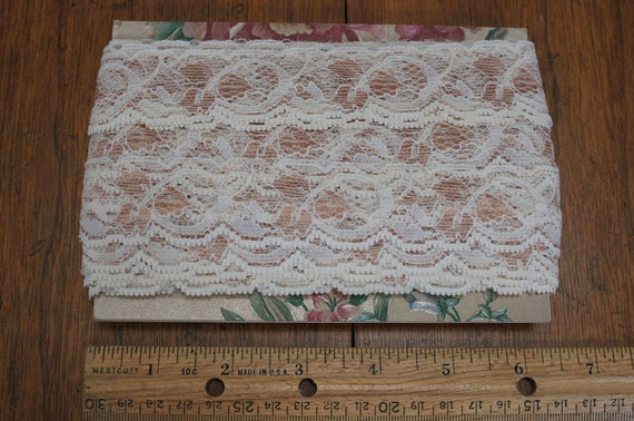 Lace Taupe and Off White 16 yards