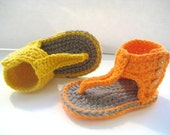 Crochet Pattern for Baby Sandals or Booties  - Pdf Pattern - Gladiator Sandals- INSTANT DOWNLOAD