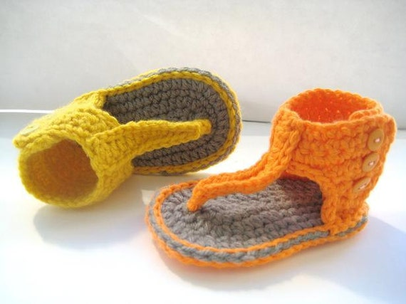 Crochet Pattern for Baby Sandals or Booties Pdf Pattern