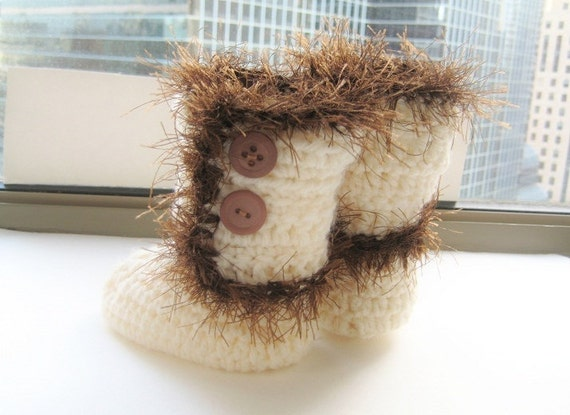 Baby Boots Crochet Pattern, Baby Crochet Pattern, Baby Booties Pattern, Furry Boots for Baby