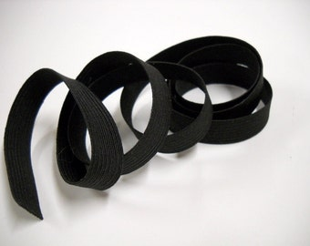 Half Inch Wide Black Elastic, 5 Yards Durable Black Elastic, Craft & Sewing Supplies, elas013/5