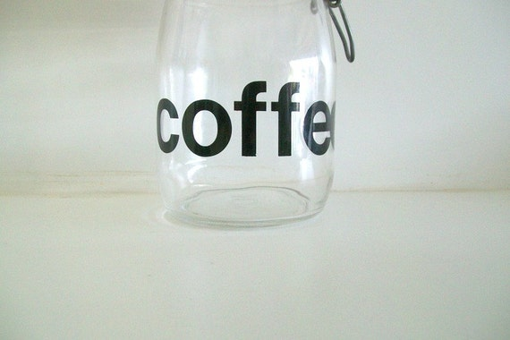 Retro French Triomphe Glass Coffee Canister