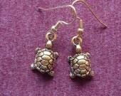 Turtle 3D Pewter Earrings