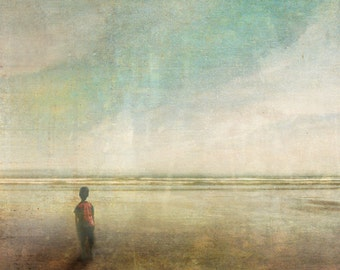 Sink or Swim  -  8 x 10 Little Boy Ocean Landscape Limited Edition Print by My Antarctica