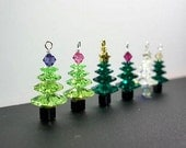 Swarovski Crystal Christmas Tree Earrings & Pendants