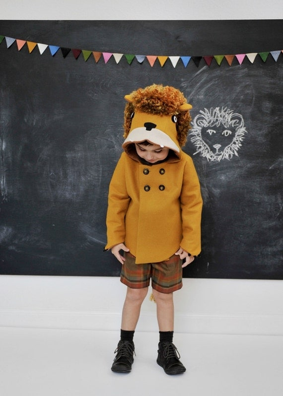 Childs Ferocious Felt Lion Coat