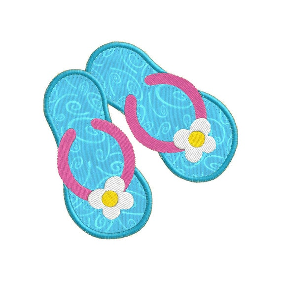 Very Rare Flip Flop Paint Mini Cooper S Convertible: Summer Flip Flop APPLIQUE Machine Embroidery Designs From