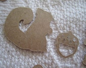 Squirrel & Acorn Autumn Party Confetti Wedding, Party, Card, Scrapbook Fall Table Sprinkles