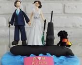 Submarine crew custom wedding cake topper gift decoration