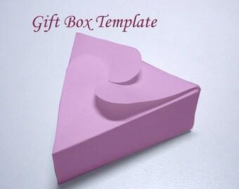 Template - Printable Triangular Jewelry Gift Box