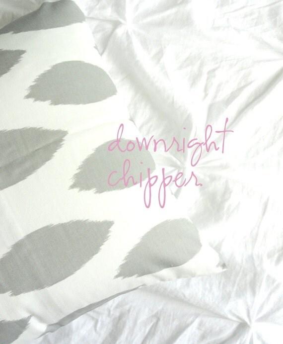 SALE 50% OFF  Decorative Pillow Cover -  Grey Ikat Chipper - 18 x 18