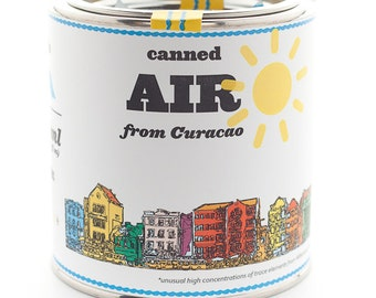 Original Canned Air From Curacao, gag souvenir, gift, memorabilia