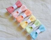 Rainbow Chevron Striped Ribbon Bitty Bows - Set of 6