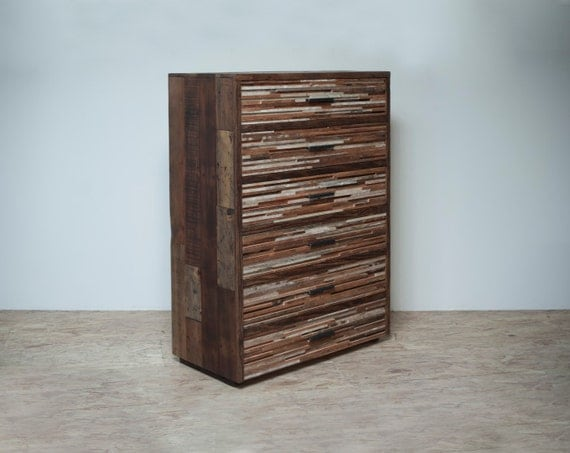Tall Lake Tahoe Dresser - Beautifully hand crafted from reclaimed douglas fir.