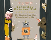 Woodland Forest Party Invitation -  Printable and Personalized for a Girl