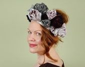 ROSETTE- fabric rose headband, crown, fascinator, headpiece,statement hat