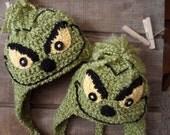 Grinchy Crochet Hat, Beanie,